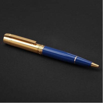قلم نيتو ماراني ذهبي أزرق غامق - P115GD