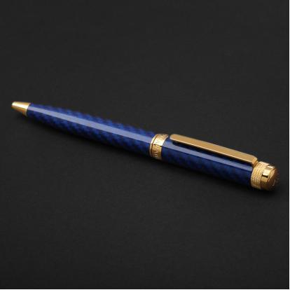 قلم نيتو ماراني ذهبي أزرق غامق - P119GD