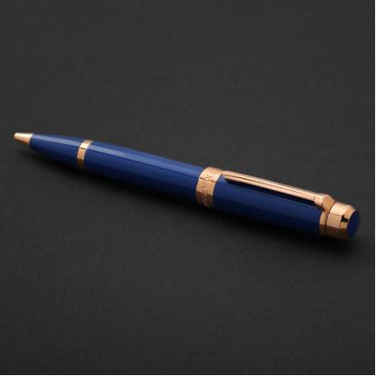 قلم نيتو ماراني ذهبي روز أزرق غامق - P123RD