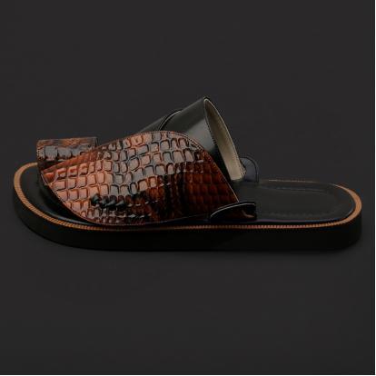 حذاء شرقي بنقشة جلد الثعبان - SS2001