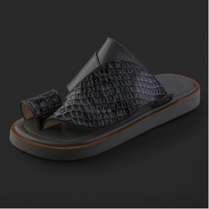 حذاء شرقي بنقشة جلد الثعبان - SS2004