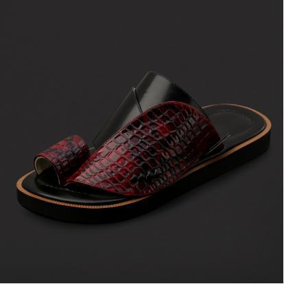 حذاء شرقي بنقشة جلد الثعبان - SS2005