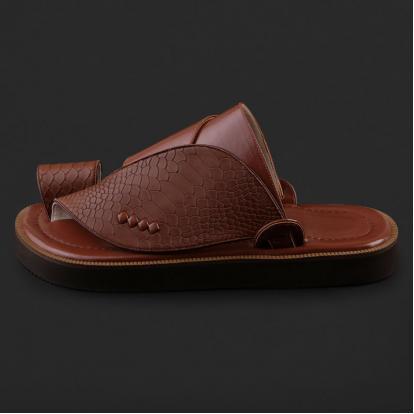 حذاء شرقي جلد بنقشة ساق النعام - SS3002