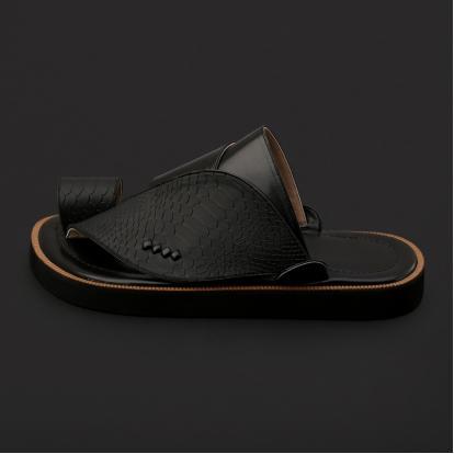 a4070df7c حذاء شرقي جلد بنقشة ساق النعام - SS3004
