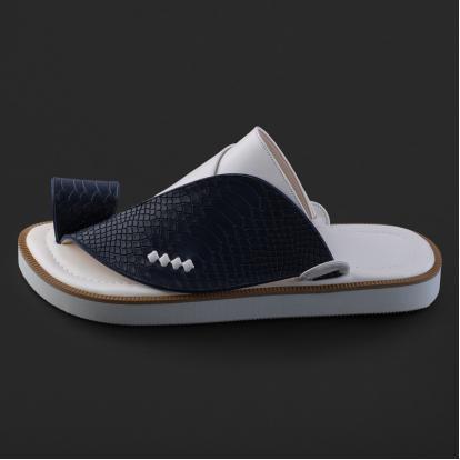 حذاء شرقي جلد بنقشة ساق النعام - SS3006