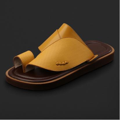 حذاء شرقي كلاسيكي جلد مخرم - SS4001