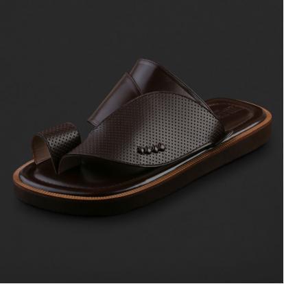 حذاء شرقي كلاسيكي جلد مخرم - SS4003