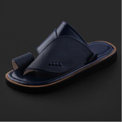 حذاء شرقي كلاسيكي جلد مخرم - SS4005
