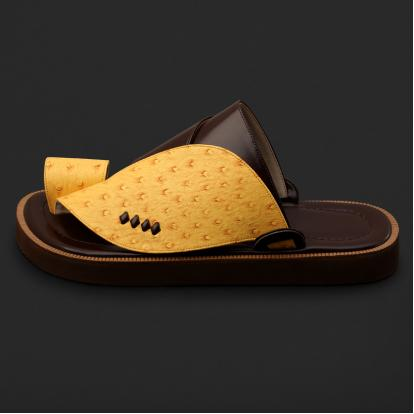 حذاء شرقي بنقشة جلد النعام - SS7002