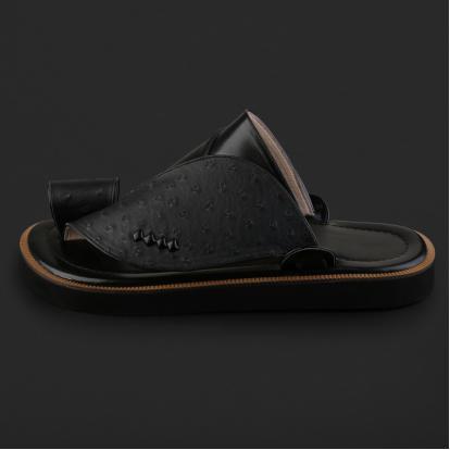 حذاء شرقي بنقشة جلد النعام - SS7003