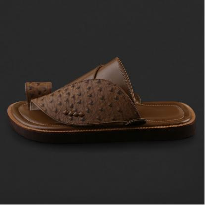 حذاء شرقي بنقشة جلد النعام - SS7004