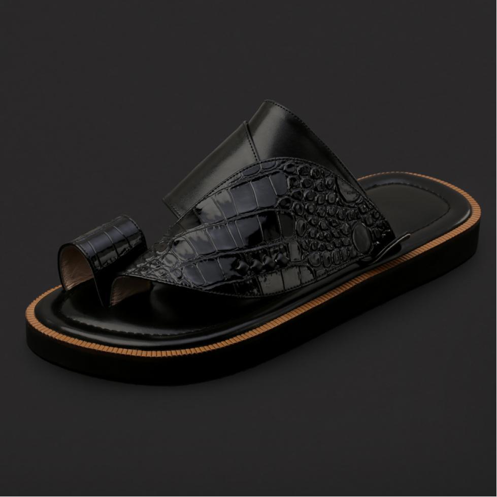 حذاء شرقي بنقشة جلد التمساح - SS8001