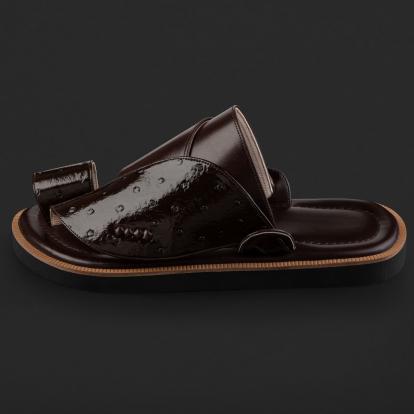 حذاء شرقي نقشة جلد النعام SD100