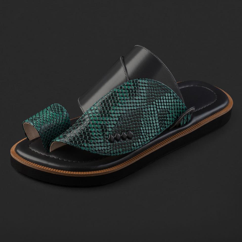 حذاء شرقي نقشة جلد السحلية SD103