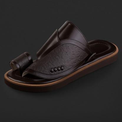 حذاء شرقي نقشة جلد النعام SD107