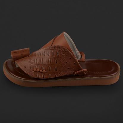 حذاء شرقي نقشة جلد النعام SD108