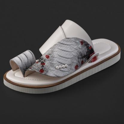 حذاء شرقي نقشة ساق النعام SD111