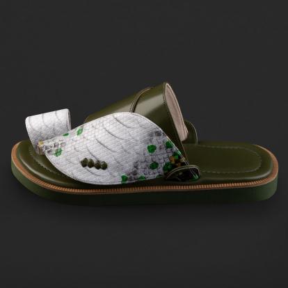 حذاء شرقي نقشة ساق النعام SD112