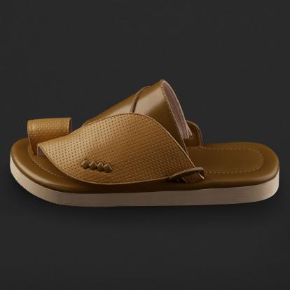 حذاء شرقي جلد مخرم SD115