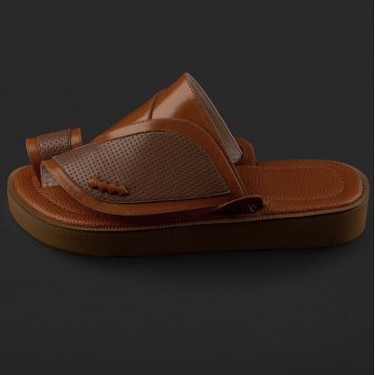 حذاء شرقي جلد مخرم SD116