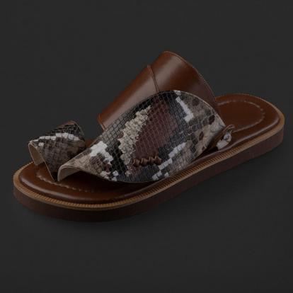 حذاء شرقي نقشة جلد الثعبان SD121