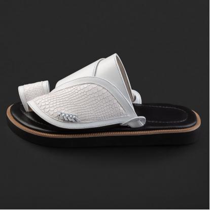 حذاء شرقي بنقشة ساق النعام SE7101