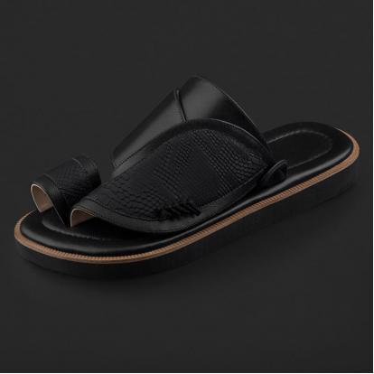 حذاء شرقي بنقشة ساق النعام SE7102