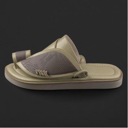 حذاء شرقي بنقشة ساق النعام SE7121