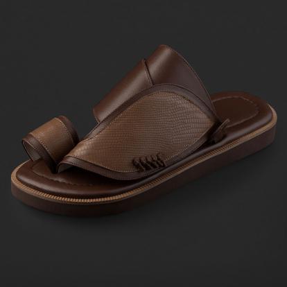 حذاء شرقي بنقشة جلد السحلية SE8108