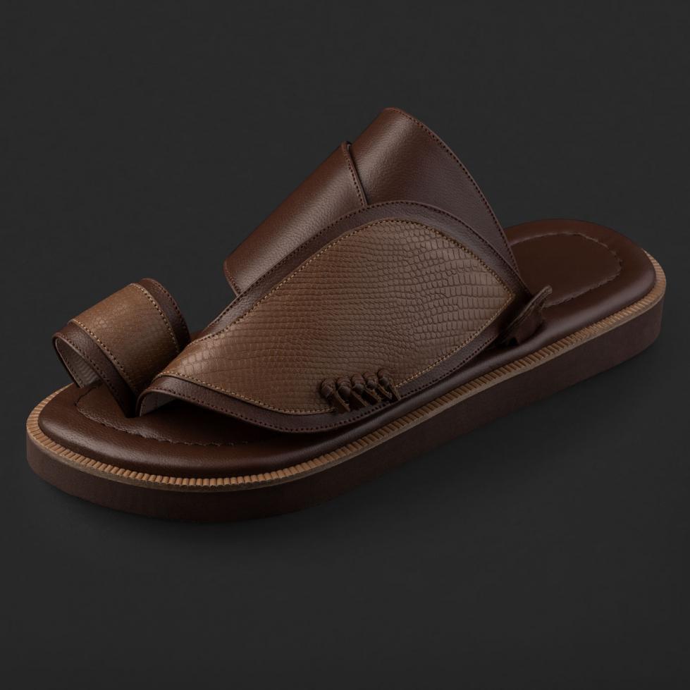 حذاء سوادنس شرقي بنقشة جلد السحلية SE8108