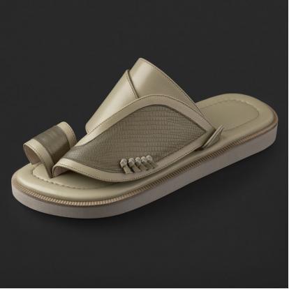 حذاء شرقي بنقشة جلد السحلية SE8121