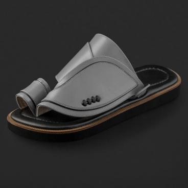 حذاء سوادنس شرقي جلد كلاسيكي مخطط SE9118
