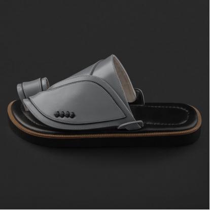 حذاء شرقي جلد كلاسيكي مخطط SE9118