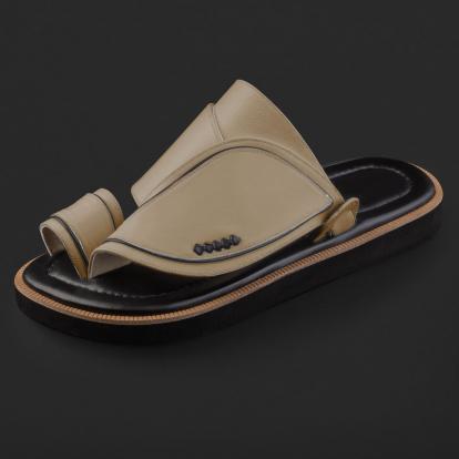 حذاء شرقي جلد كلاسيكي مخطط SE9121