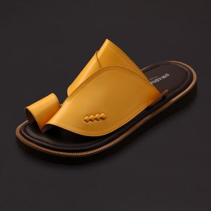 حذاء شرقي كلاسيك جلد بني جملي SS1763