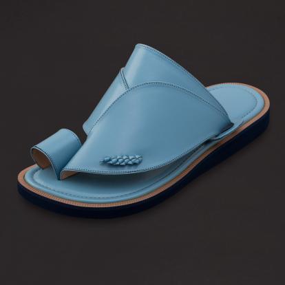 حذاء شرقي كلاسيك جلد سماوي SS1770