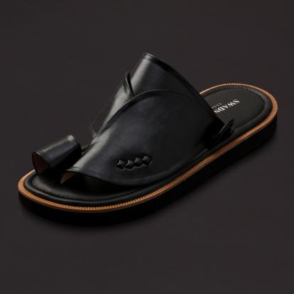 حذاء شرقي كلاسيك جلد أسود SS1760