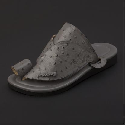 حذاء شرقي جلد لون رصاصي SS1900