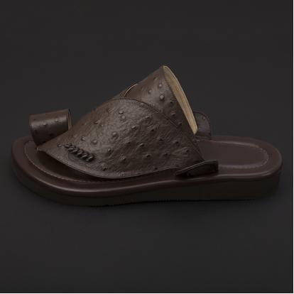 حذاء شرقي جلد لون بني داكن SS1896