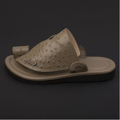 حذاء شرقي جلد لون بيج SS1898