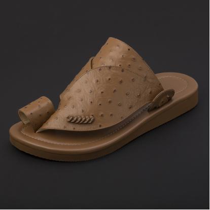 حذاء شرقي جلد لون بني SS1899