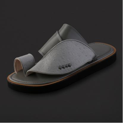 حذاء شرقي بنقشة جلد النعام - SS7001