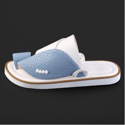 حذاء شرقي جلد بنقشة ساق النعام - SS3007