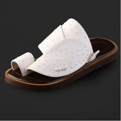 حذاء شرقي جلد لون أبيض SS1901