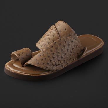 حذاء شرقي جلد لون بني SS1902