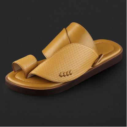 حذاء شرقي كلاسيكي جلد مخرم - SS4007