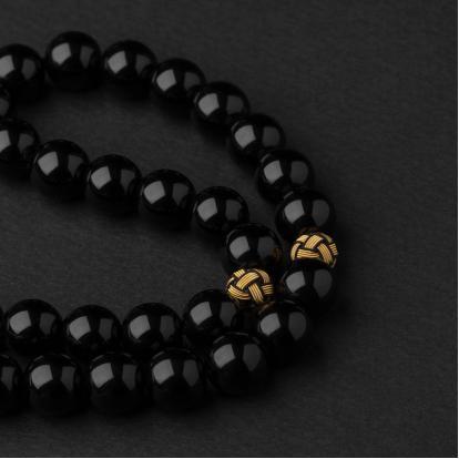 سبحة عقيق أسود طربزون SQ901