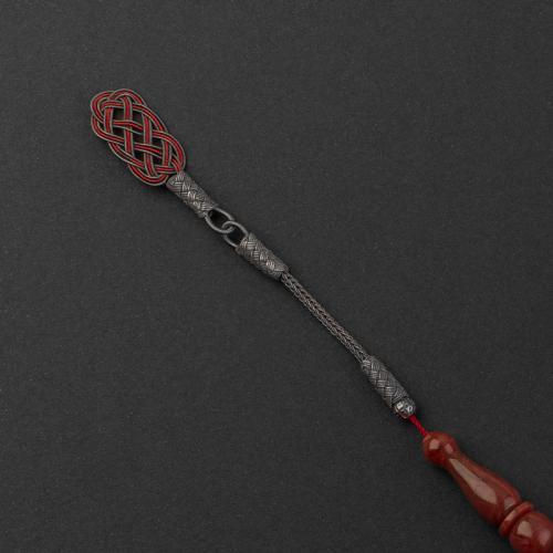 سبحة سوادنس فاتوران أحمر داكن معرق طربزون أوكسيد TS15